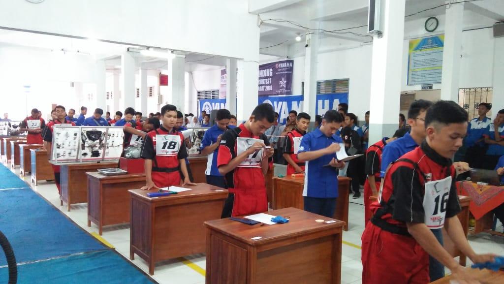 SMK Skill Contest YAMAHA DDS 2 JABAR di SMK Muhammadiyah Lemahabang